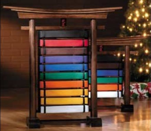 Tae kwon do belt display!! Visit http://www.budospace.com/category/tae-kwon-do/ for discount Tae Kwon Do supplies!