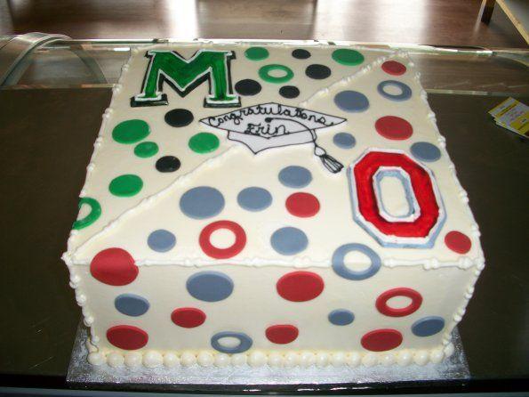 Mason High School & Ohio State University Graduation Cake