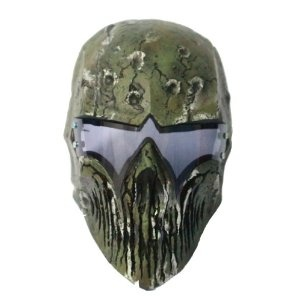 ColdBloodArt #3 airsoft paintball mask - Woodland