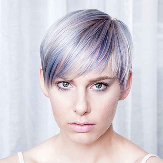 Lavender hair color from Lisa Power Salon, Seattle.