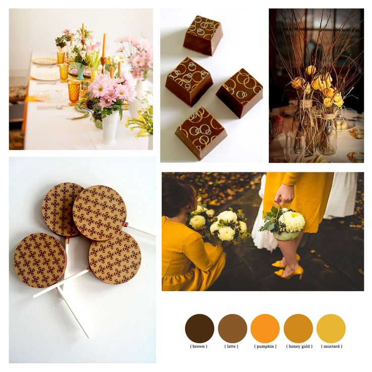 Yellow-brown design wedding chocolate package gifts