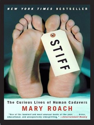 "Stiff: The Curious Lives of Human Cadavers (Adult for young adult) Reader: Shelly Frasier - ""Why lie around on your back when you can do something interesting and new, something useful? ... This book is about notable achievements made while dead."" (9-10)"