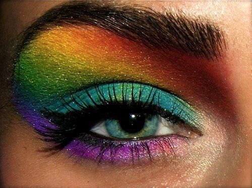 Cool that looks awsome: Make Up, Color, Hairs, Rainbows Eyeshadows, Eyes Shadows, Beauty, Eyemakeup, Rainbows Makeup, Eyes Makeup