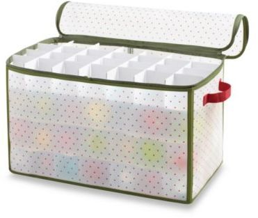 Real Simple® Holiday 112-Count Ornament Storage Box #ad