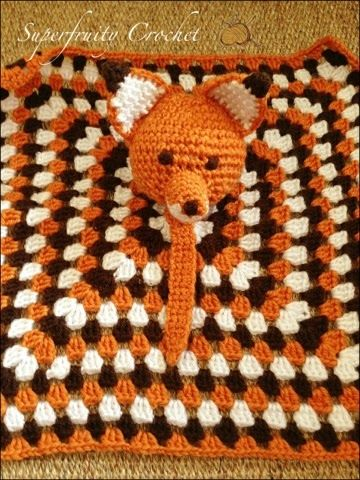 Free pattern. Fox lovey comforter blankie  Superfruity Crochet: That's fantastic, little Mr Fox @Katie Hrubec Hrubec Schmeltzer Cooley