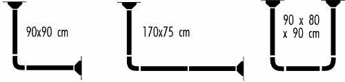 Spirella Universal Decor White Shower Curtain Bar Aluminium Refined 3 Variations