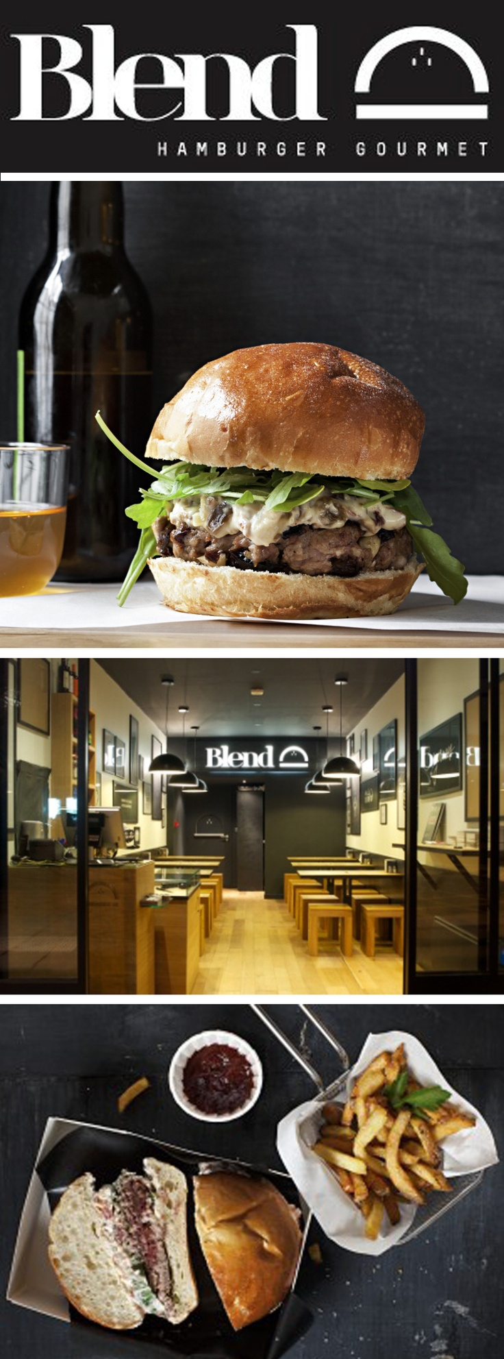 BLEND, Hamburger Gourmet - 44 Rue d'Argout 75002 Paris, France - 01 40 26 84 57