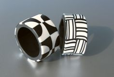 Retro Rings by ST-ART-CLAY | Polymer Clay Planet