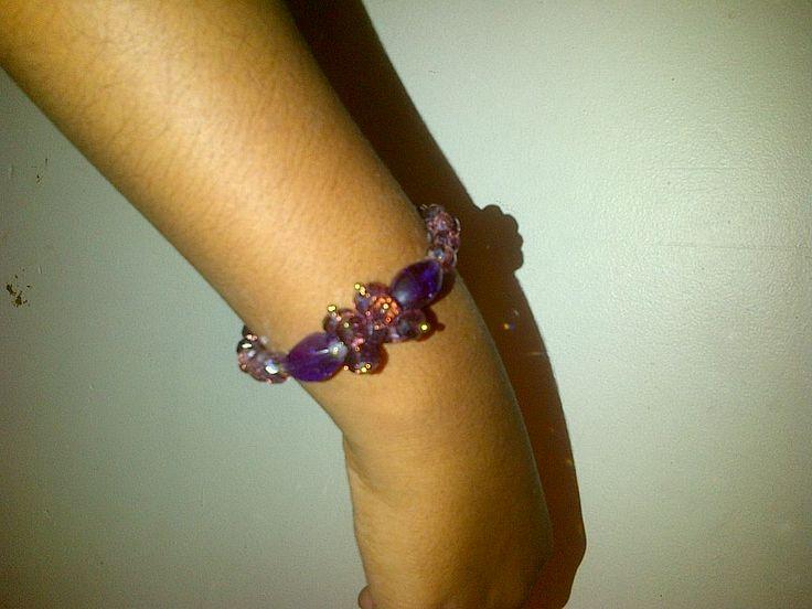 Sparkling Beaded Purple bracelet
