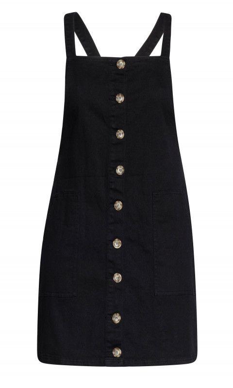 fb8b177c2d7 Shop Women s Plus Size Denim Button Dress - black - New