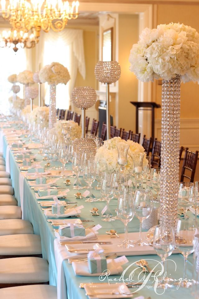 Crystal centerpieces for wedding reception glamorous crystal crystal centerpieces for wedding reception glamorous crystal reception table decor weddings superweddings wedding pinterest tiffany blue junglespirit