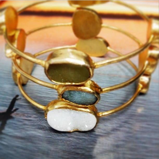 Mineral gold plated bracelet http://www.londali.com/mineral-gold-bracelet-446/