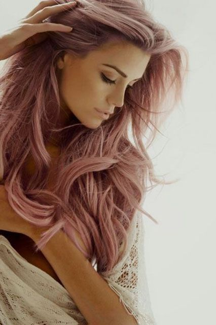 Rose colored hair... Love!