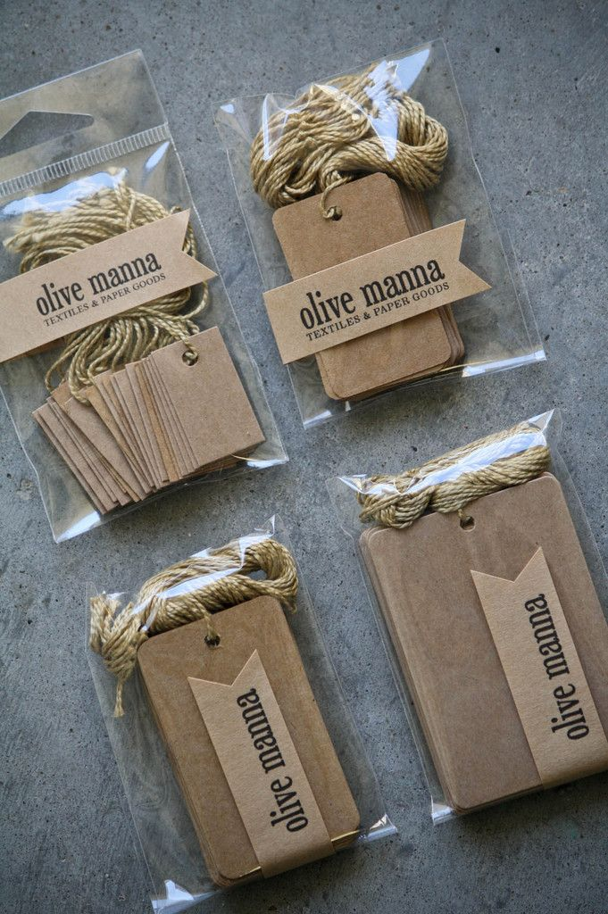 Kraft Gift Tags With String