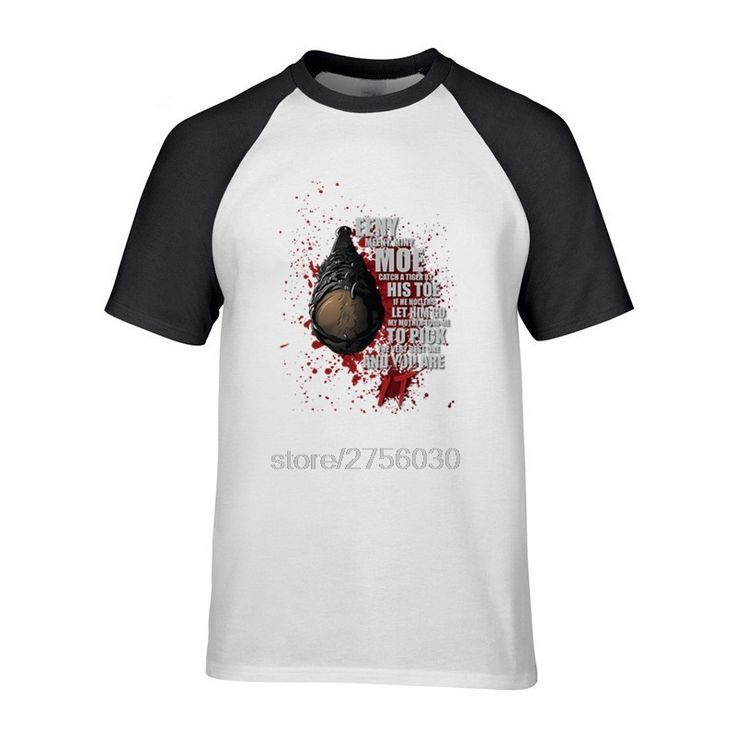 High Quality Mens T Shirts Men The Walking Dead-This is Lucille Crewneck Offensive T Shirts Man Funny Short Sleeve Tees Shirt #Affiliate