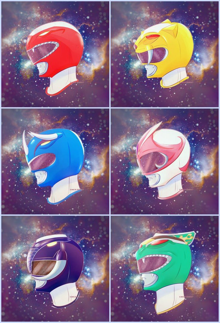 MMPR Helmets by Chico-Robot. These look amazing! #SonGokuKakarot