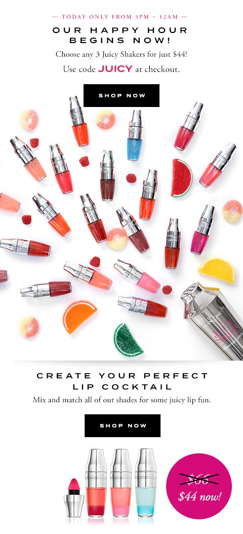 #LANCOME - EMAIL: TODAY ONLY FROM 3PM - 12AM OUR HAPPY HOUR BEGINS NOW! - SHOP NOW