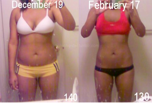20tofit:  10 pounds. 2 months. Toning. Huge difference.  Amazing progress in a very short period of time!