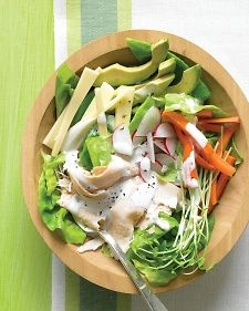 Chef's Salad with Turkey, Avocado, and Jack Cheese - fab summer quick meal