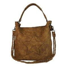 Tas met ster Camel  Op de tas is een ster applicatie aangebracht in de dezelfde…