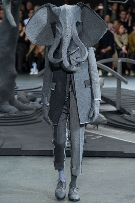 Thom Browne Fall 2014 ~ Crazy Men's Fashion-this makes total sense after you watch the sci-fi short 'Elephante'....