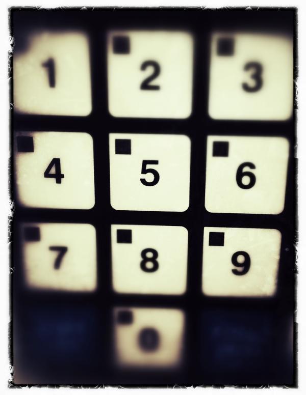 My alarm key pad...