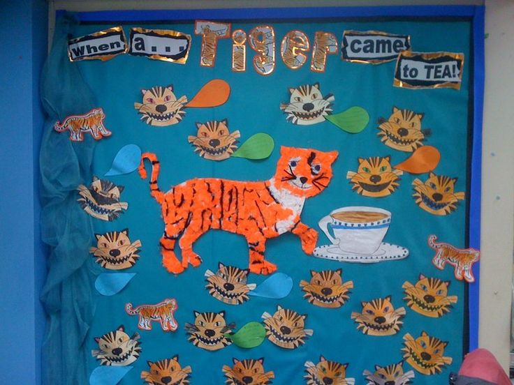 When a Tiger came for tea Display, classroom display, class display, Story, When a Tiger came for Tea, book, Early Years (EYFS), KS1& KS2 Primary Resources