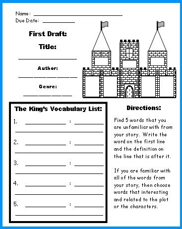 extra large castle book report projects templates worksheets grading rubric and banner. Black Bedroom Furniture Sets. Home Design Ideas