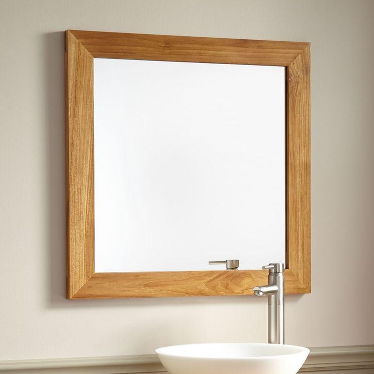 """28"""" Wulan Teak Mirror"""