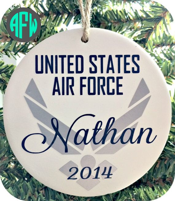 Air Force Ornament - Military Ornament - Personalized with Airman's Name  and Year - Navy, Army, Marines, Coast Guard | I'm an Air Force Mom! And a Air  Force ... - Air Force Ornament - Military Ornament - Personalized With Airman's