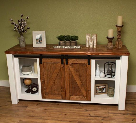 Barn Door Entertainment Console Tv Stand Media Bedroom Furniture Placement Repurposed Furniture Small Bedroom Furniture