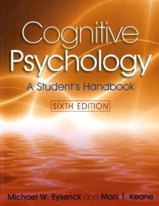 Cognitive Psychology: A Student's Handbook 9781841695402 ** Brand New **