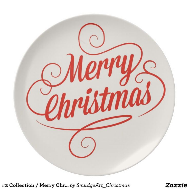 #2 Collection / Merry Christmas Party Plate