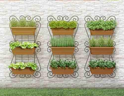 kit painel jardim vertical suspenso 100x50cm horta olilo