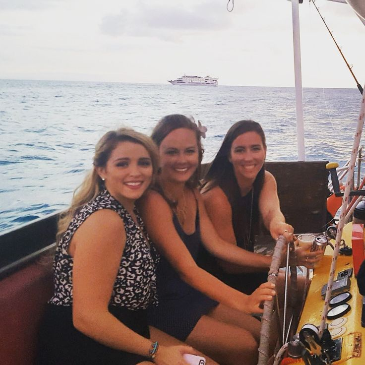 Booze Cruise!! So much fun, we got our money's worth, and they let us take the wheel for a while! Honolulu, HI – Two Girls and a Globe