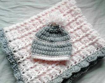Häkeln Sie Babydecke Häkeln Sie Mädchen Decke von crochetfifi