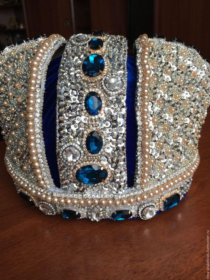 Купить Корона вышитая бисером - корона вышитая бисером, корона из бисера, бисерная корона