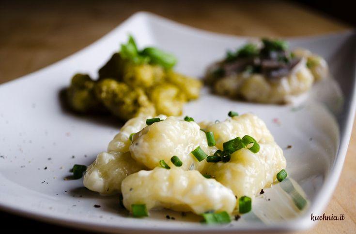 Gnocchi z trzema sosami