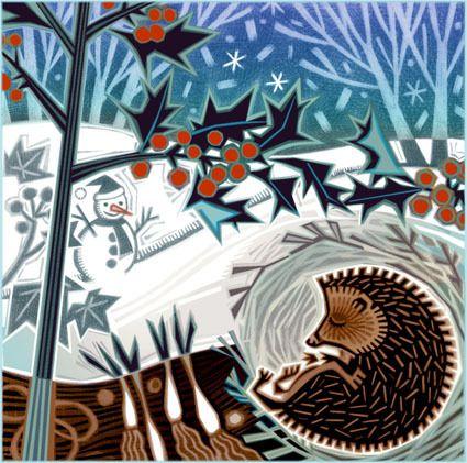 """Happy Hedgehog Hibernating"" by Jenny Tylden Wright"