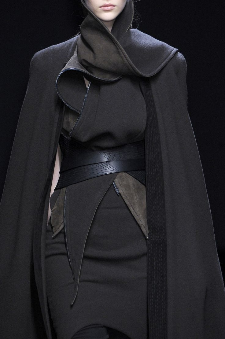 Draped Jacket - layered black fashion details // Haider Ackermann