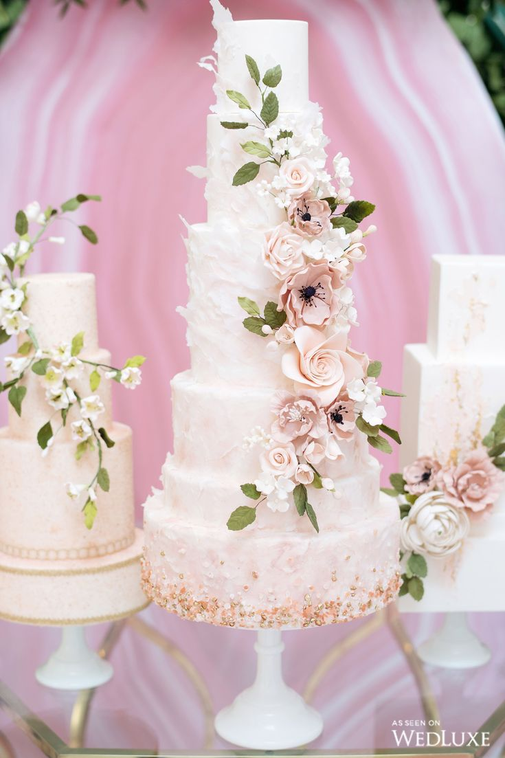142 best Wedding Cakes images on Pinterest   Cake wedding, Petit ...