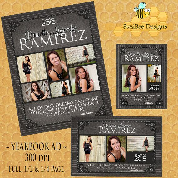 17 best images about senior ads on pinterest high school for Free yearbook ad template
