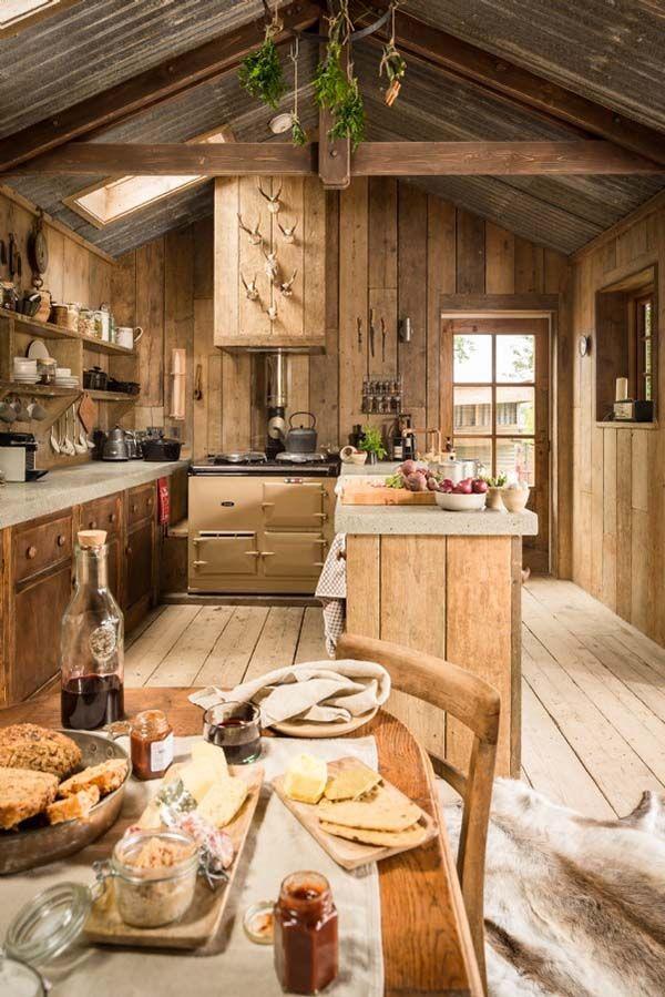 Ultimate Rough Luxe Hideaway Cabin In Cornwall, UK. Rustic InteriorsDesign  ...