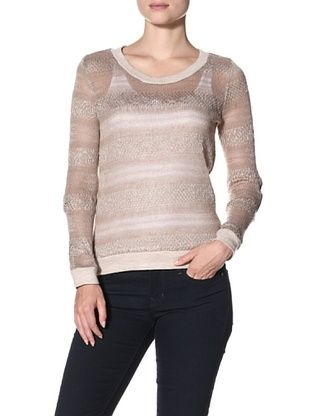 ASH RAIN   OAK Women's Stripe Sweater with Elbow Patch