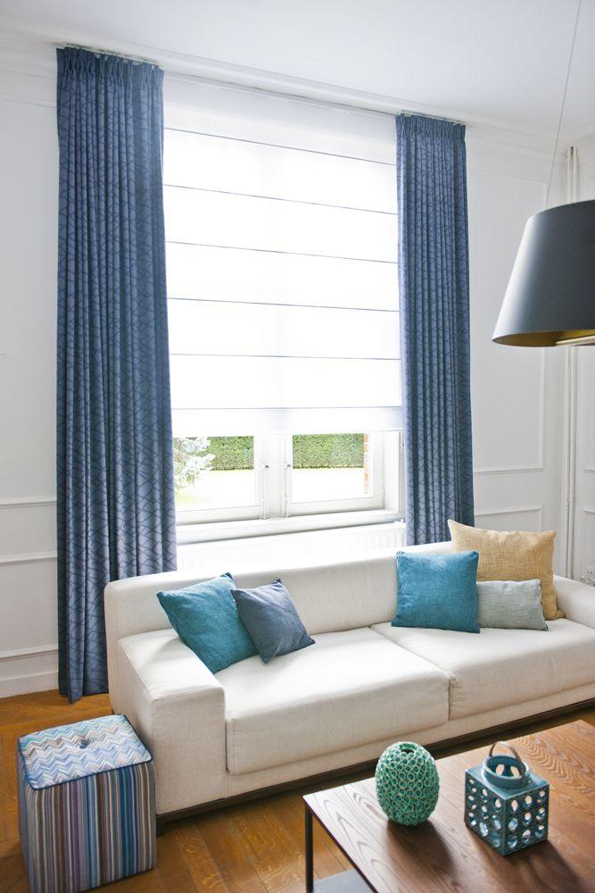 25 beste idee n over bruine gordijnen op pinterest bruine familiekamers gezellige - Deco kamer volwassen blauw ...