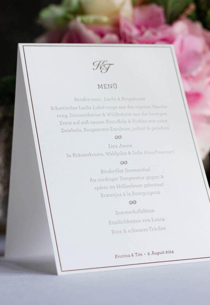 Menükarte-Hochzeit