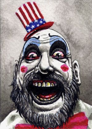 Captain Spaulding Rob Zombie Drawing | Captain Spaulding