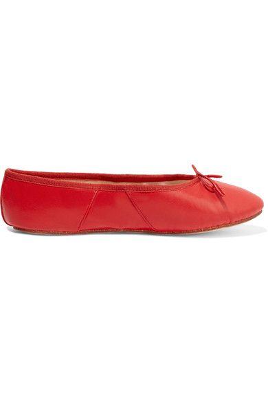 Eres - Precieux Leather Ballet Slippers - Papaya - FR