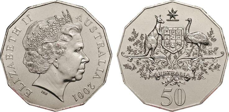 2001 50c Australian Coat of Arms