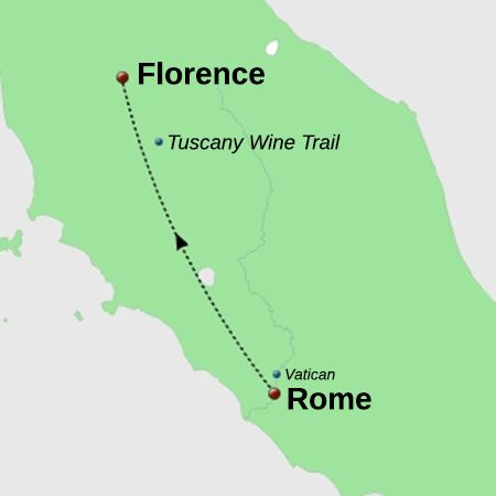 Private Taxi from Rome to Florence
